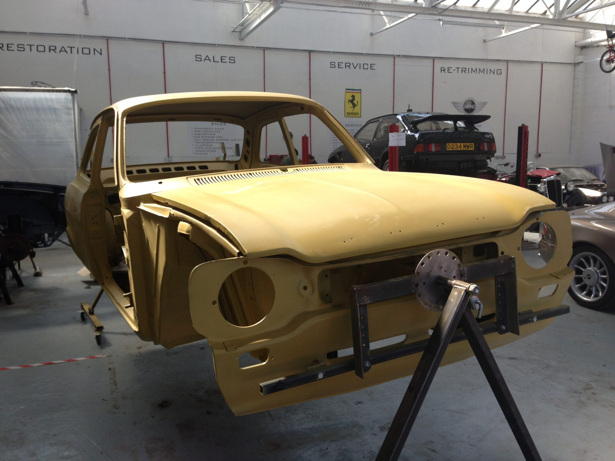 Body shell of Ford Escort