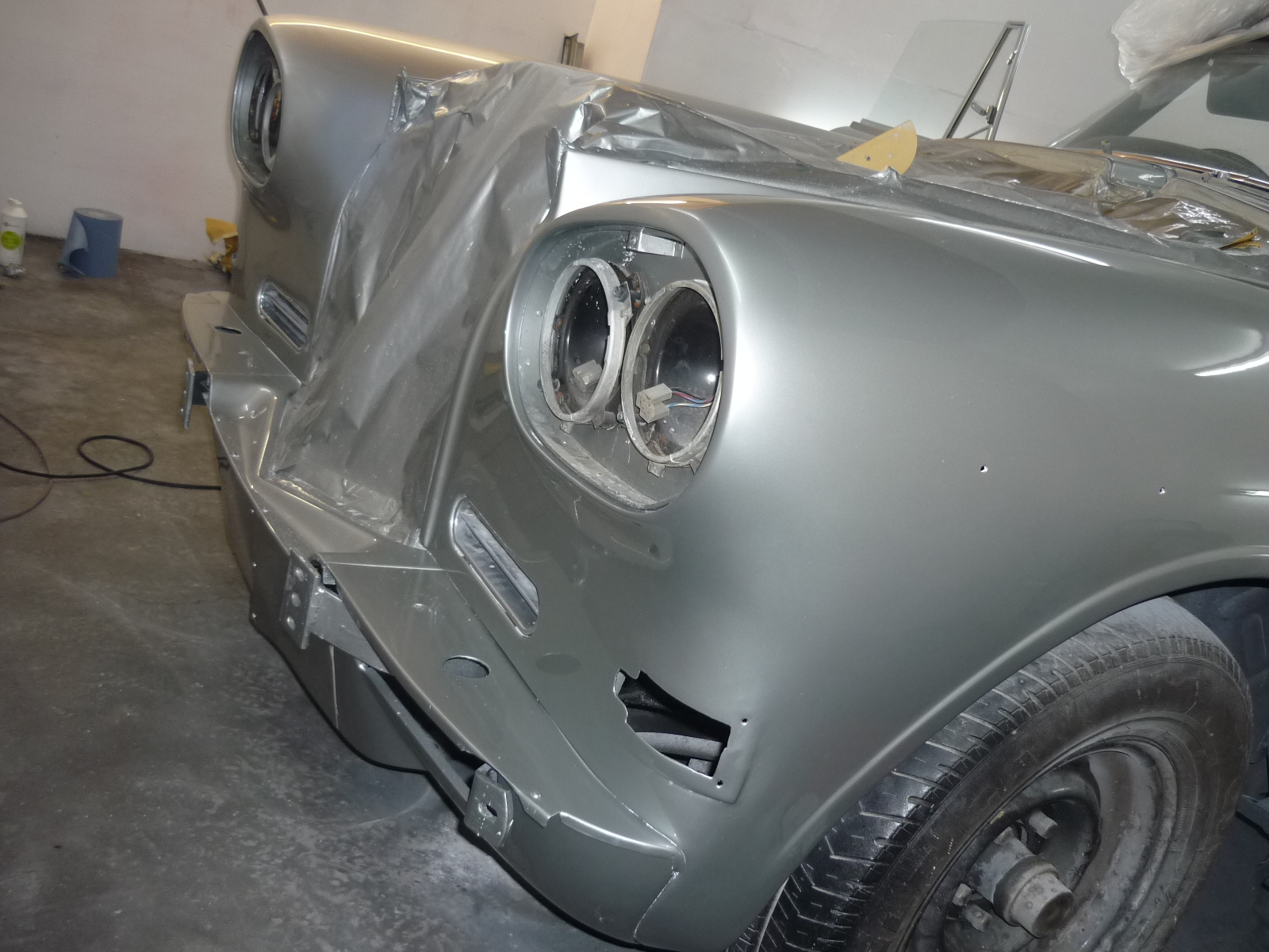 Bentley Continental front re-spray