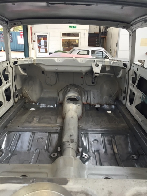 Alfa Romeo Giulia interior stripped