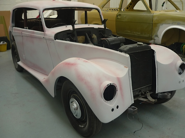 Bodywork for repainting