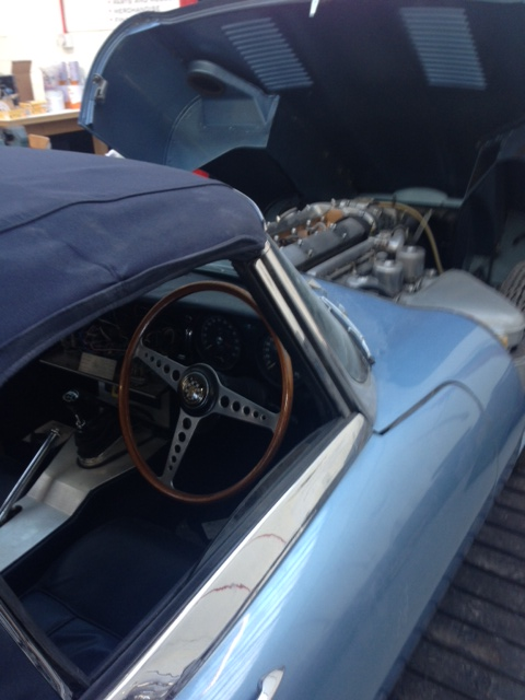 Interior of Jaguar E-Type