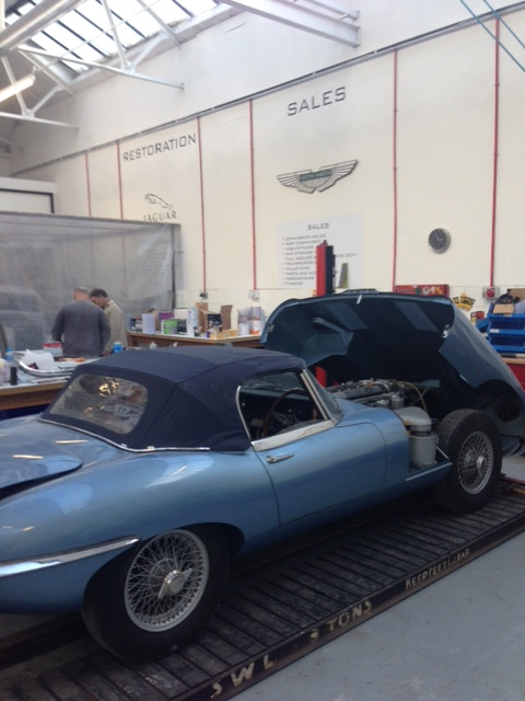 Jaguar E-Type Roadster restoration