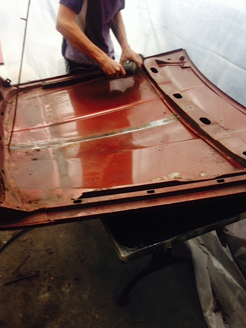Jaguar XJ6 respray bonnet