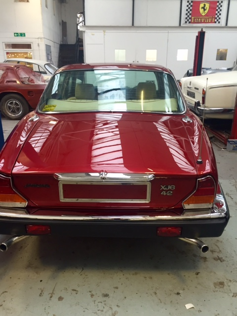 Jaguar XJ6 respray rear