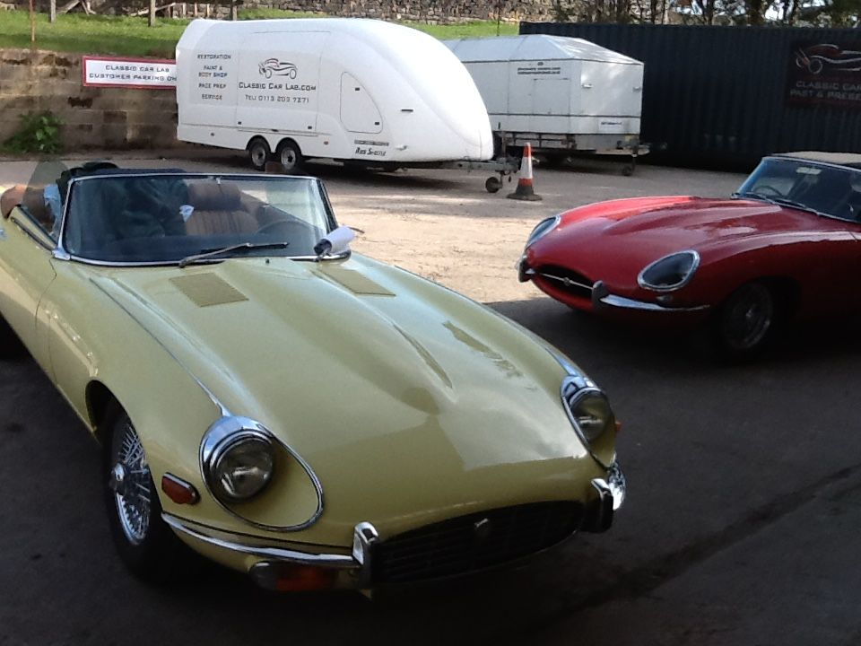 Jaguar E-Type Series 3 respray finished