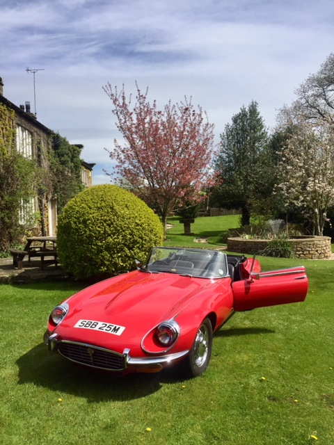 Jaguar E-Type series 3 completed respray
