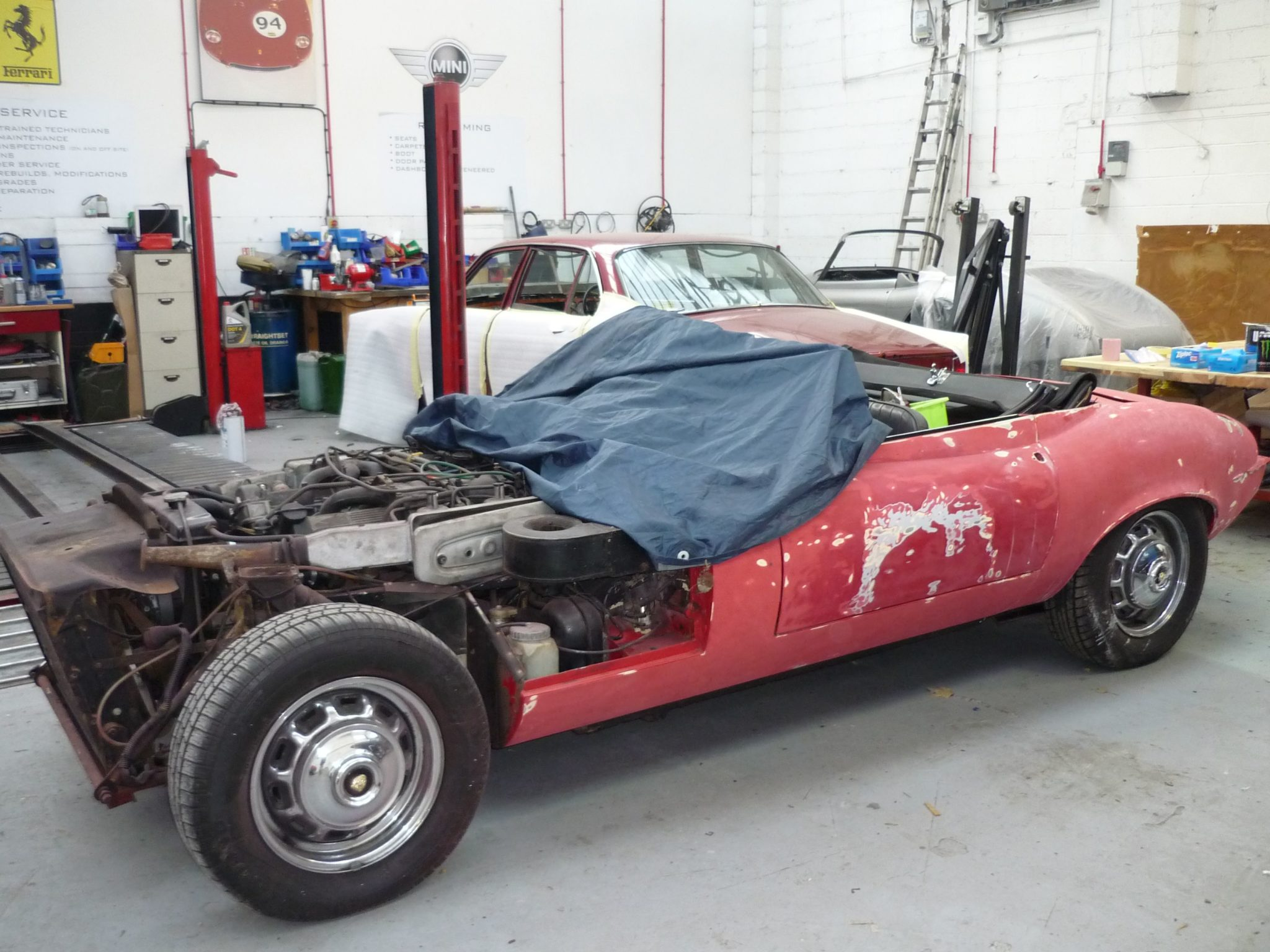 Jaguar E-Type Series 3 respray